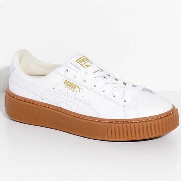 Puma Basket Platform Sneaker W Gum Sole